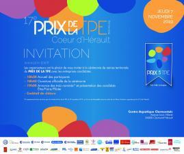 Invitation Remise Prix de la TPE 2019 Coeur d'Hérault