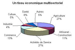 Répartition des secteurs économiques en Pays Coeur d'Hérault
