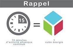 activité physique et cube énergie au grand défi vivez bougez