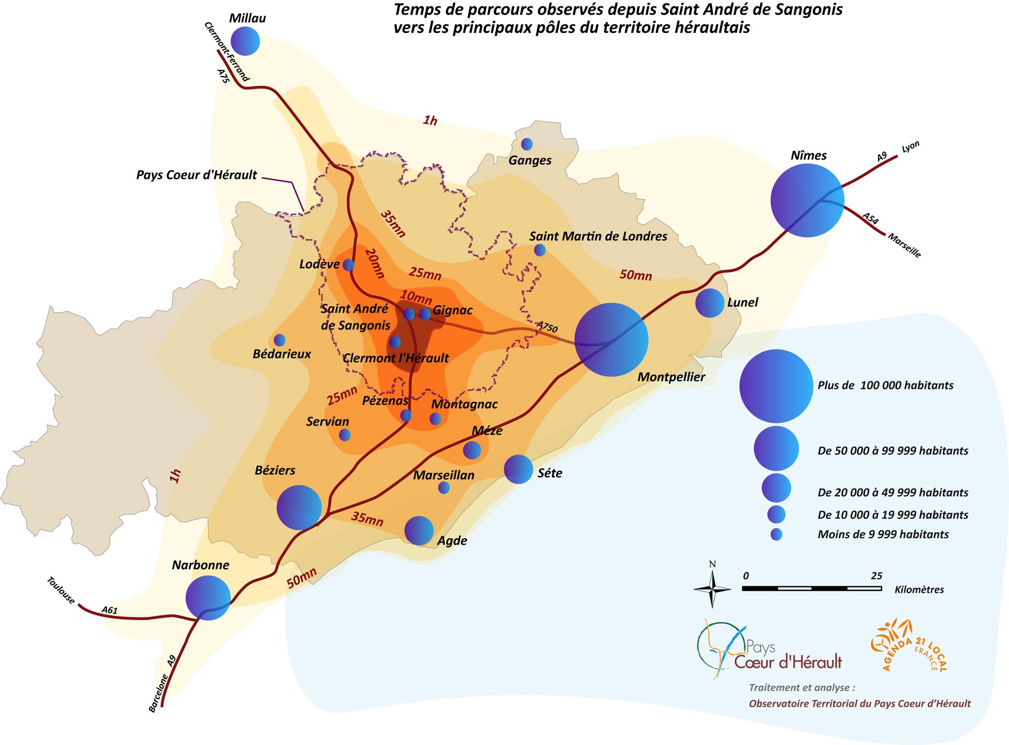 Temps de Parcours PCH -> Hérault