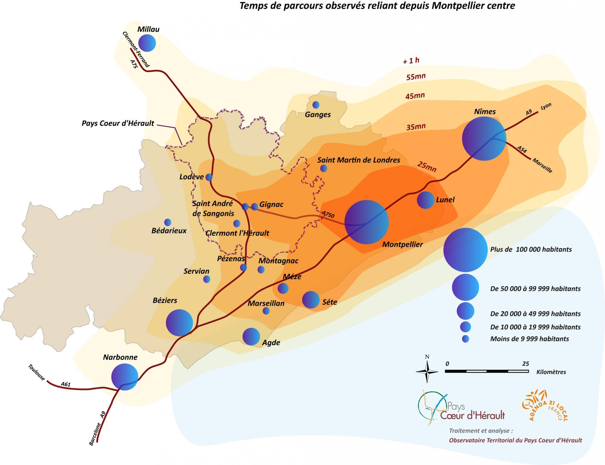 Temps de Parcours Montpellier
