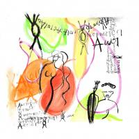 Figure libre et Calligraphie imaginaire de Réjane Jonias
