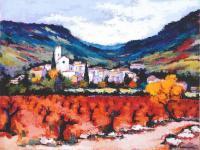OCTON - Peinture de Jean-Pierre COURDIER (2012)